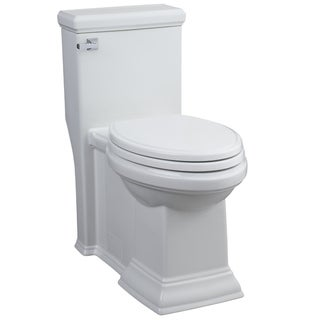 Town Square 1-Piece 1.28 GPF Toilet Elongated Toilet in White