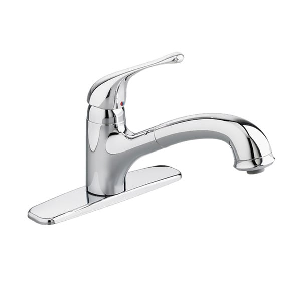 Colony Soft Single-Handle Pull-Out Polished Chrome Sprayer Kitchen Faucet