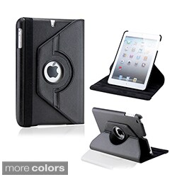 Gearonic 360-degree Rotating PU Leather Case Smart Cover Swivel Stand for iPad Mini iPad Mini 2 Retina Display