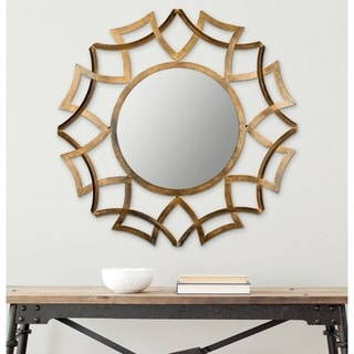 Safavieh Inca Sunburst Antique Gold Mirror