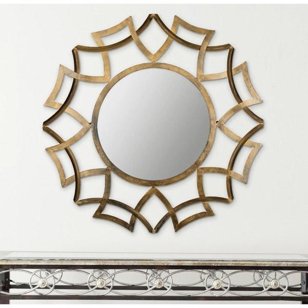 Safavieh Inca Sunburst Antique Gold Mirror