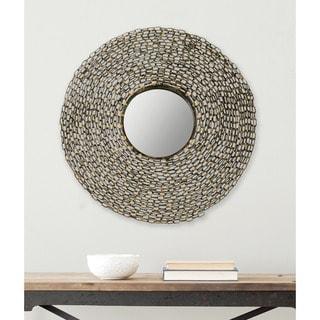 "Safavieh Jeweled Chain Link Natural 24-inch Round Decorative Mirror - 24"" x 3.5"" x 24"""