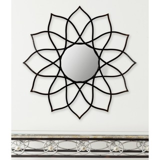 Safavieh Flower Power Coffee Bronze Mirror