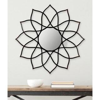 "Safavieh Flower Power Coffee Bronze 36-inch Decorative Mirror - 36"" x 1"" x 36"""