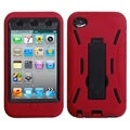 ASMYNA Black/ Red Case for Apple iPod Touch 4th Generation