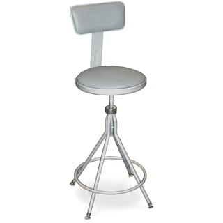 Swivel Stool with Adjustable Vinyl Padded Seat and Back