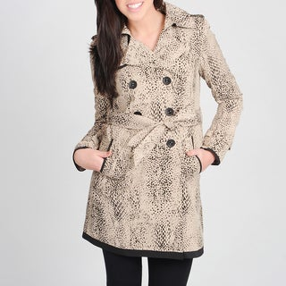Ivanka Trump Women's Animal Print Belted Trench