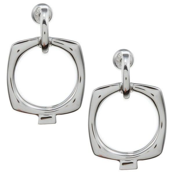 ELLE Jewelry Sterling Silver Open Circle Earrings
