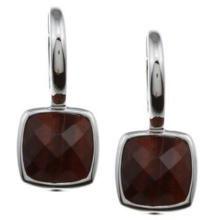 ELLE Jewelry Sterling Silver Tiger's Eye Earrings