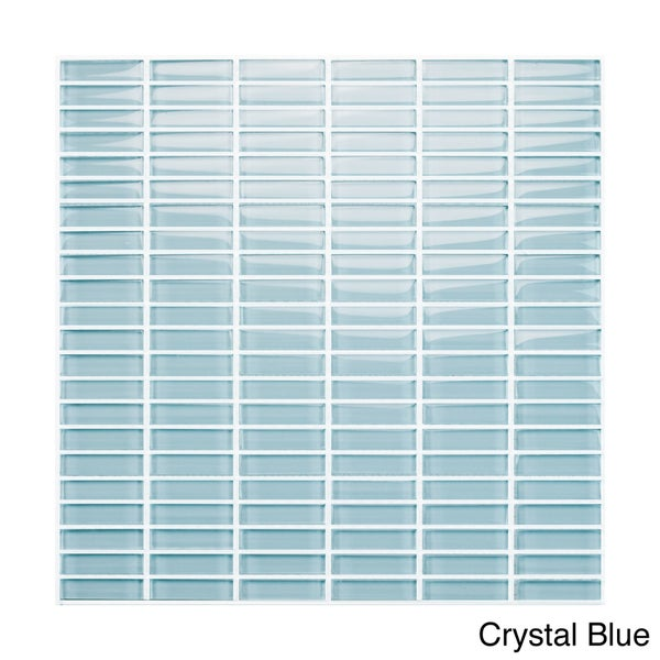 Emrytile Vetro 12x12 Straight Brick Mosaic Sheets (Pack of 10)