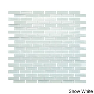 EmryTile Vetro Staggered Brick Glass 12x12 Wall Tile Sheets (Pack of 10)
