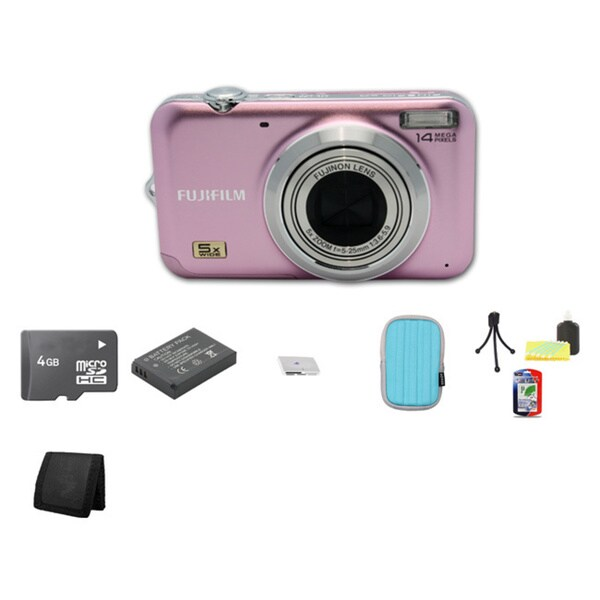 Fujifilm FinePix JX280 14.1MP Digital Camera with 4GB Bundle