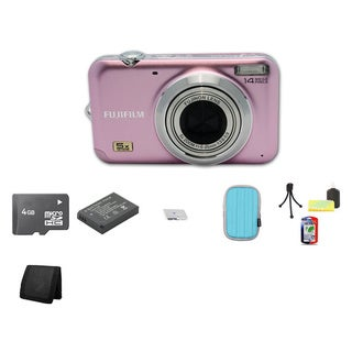 Fujifilm FinePix JX280 14.1MP Digital Camera with 4GB Bundle