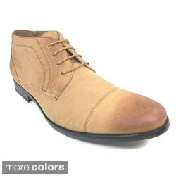 Ferro Aldo Men's Distressed Leatherette Oxford Dress Shoes