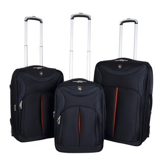 Traveler's Club Sydney Collection 3-piece Sleek-Traveler Luggage Set