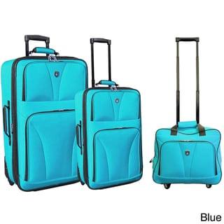 Traveler's Club Bowman Collection 3-piece Expandable Luggage Set