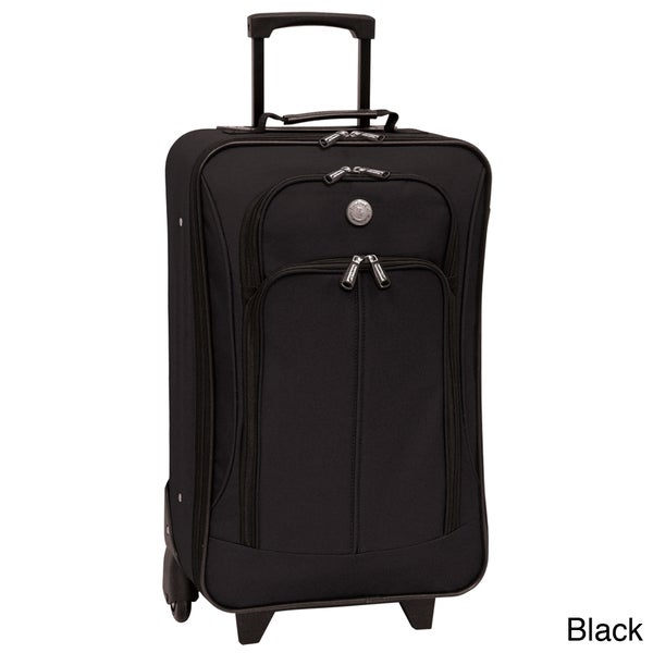 Traveler's Club Euro Value II Collection 20-inch Carry-on Luggage Upright Suitcase