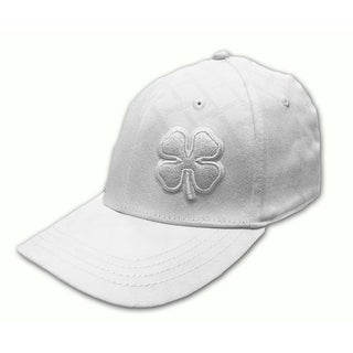 Black Clover Men's White Chain Link Billed Fitted Cap
