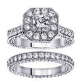 14k White Gold 5ct TDW Princess Diamond Bridal Ring Set (F-G, SI1-SI2)