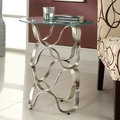 Ryde Swirl Tempered Glass Top End Table