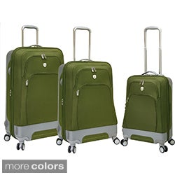 Traveler's Club Barcelona Collection 3-piece Expandable Spinner Hybrid Luggage Set