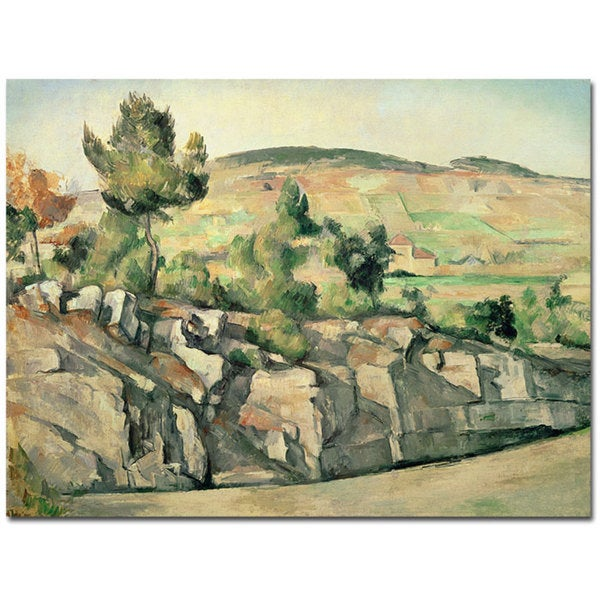 Paul Cezanne 'Hillside in Provence 1886' Canvas Art