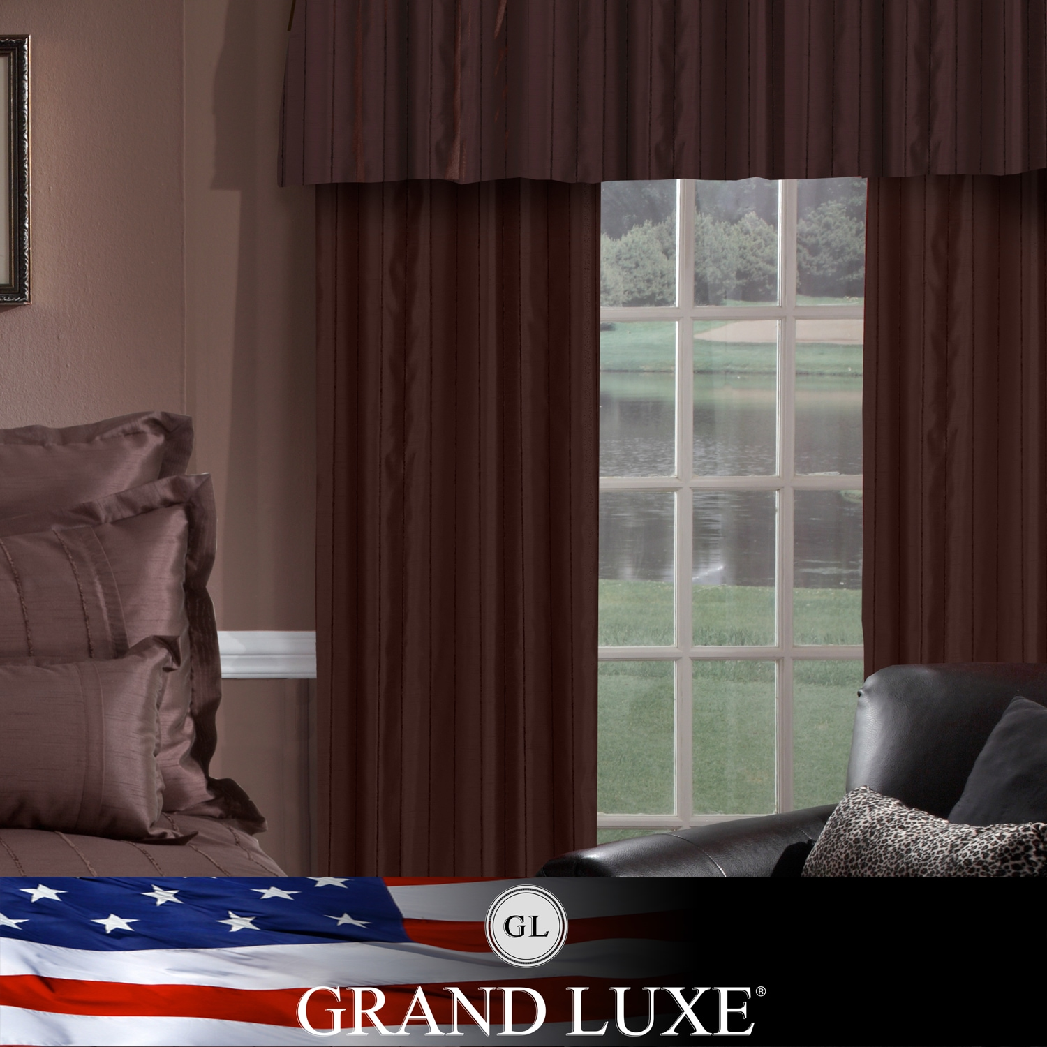 Veratex Grand Luxe Chocolate Braxton Grommet Curtain Panel at Sears.com