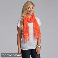 Cashmere Showroom 'Queen of Hearts' Embellished Lace Scarf