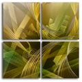 'Modern Tropicals' 4-piece Metal Wall Art