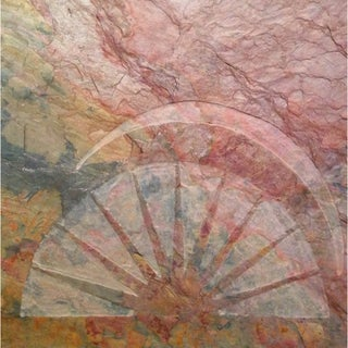 Karmic Stone 'The Rising Sun Giclee Canvas' Giclee Print Of Original Inspirational Sun Stone Carving Art Wallhanging