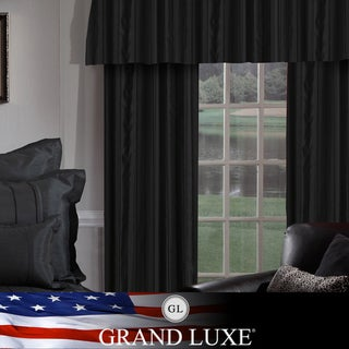 Veratex Grand Luxe Black Braxton Grommet Curtain Panel