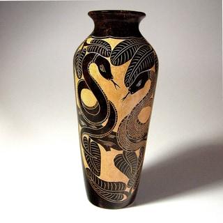 Battling Boas Decorative Vase (Nicaragua)