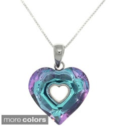 CGC Sterling Silver Glass Heart Necklace