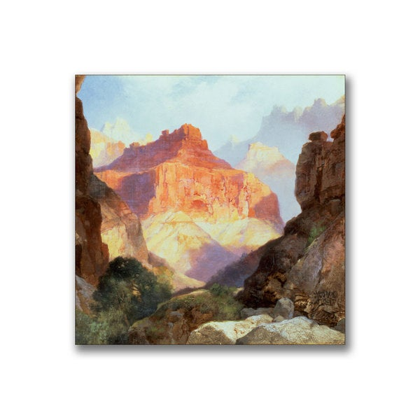 Thomas Moran 'Under the Red Wall' Canvas Art