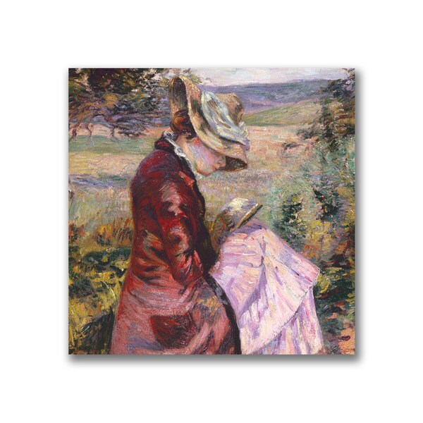 Jean Baptiste Guillamin 'Madame Reading 1887' Canvas Art - Multi 10917634