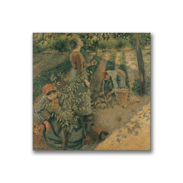 Camille Pissaro 'The Apple Pickers' Canvas Art