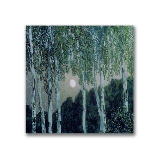 Aleksandr Golovin 'Birch Trees' Canvas Art