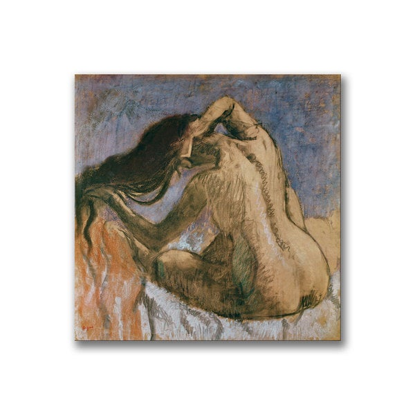 Paul Cezanne 'Woman Combing her Hair' Canvas Art 10917657