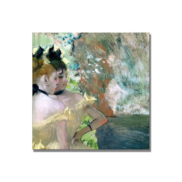 Edgar Degas 'Dancers in the Wings' Canvas Art