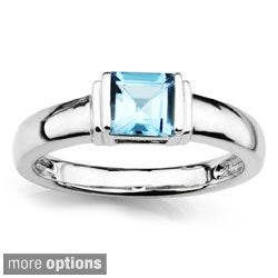 Sterling Silver Blue Topaz Fashion Ring