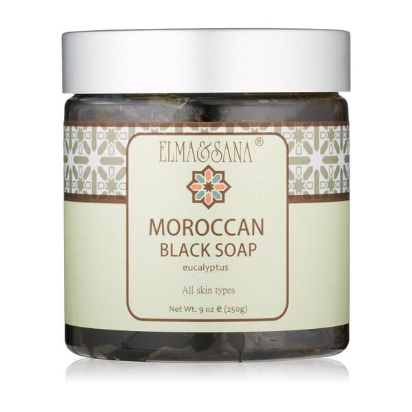 Elma & Sana Eucalyptus 9-oz Moroccan Black Soap