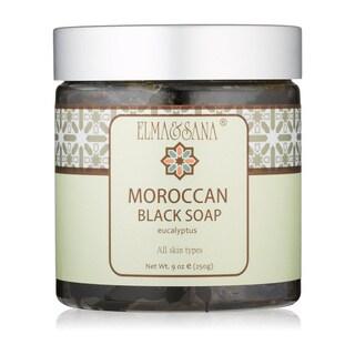 Elma & Sana 9 oz. Eucalyptus Moroccan Black Soap