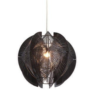 Black One-Light Ceiling Lamp