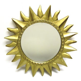 Starburst Gold Framed Mirror