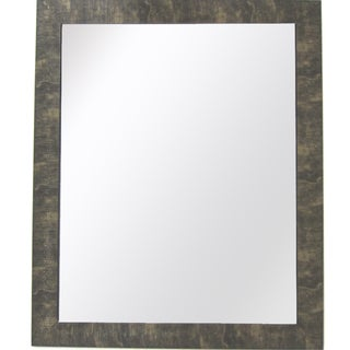 Camile Family 28-Inch x 34-Inch Gold with Brown Texture Mirror with Bevel
