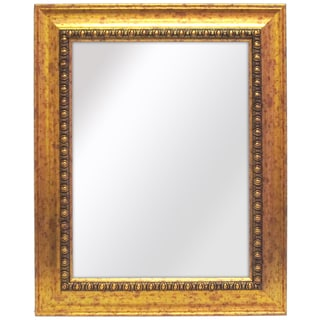 Weldon 28-Inch x 34-Inch Gold Wall Mirror with Bevel
