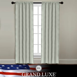 Veratex Grand Luxe Sage All Linen Gotham Grommet Curtain Panel