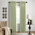 Veratex Grand Luxe Sage Ramie Linen Gotham Grommet Curtain Panel