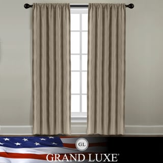 Veratex Grand Luxe Khaki Linen Gotham Rod Pocket Panel