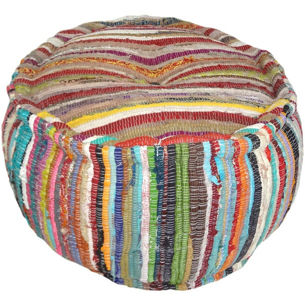 Kosas Home Dora Circle Cotton Pouf